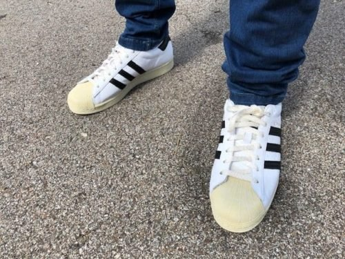 me-wearing-adidas-superstars
