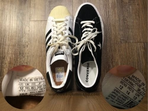 Converse One Star Sizing Guide w/ Real Comparison Photos – Work ...