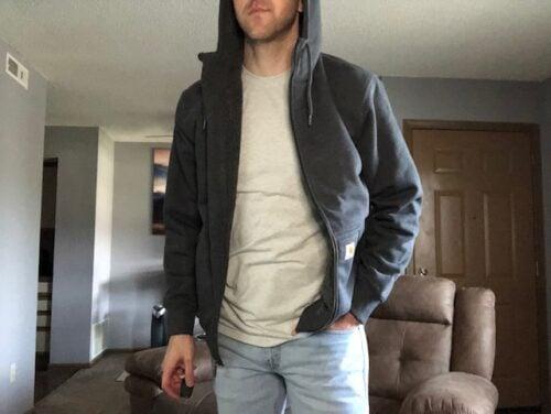 rain-defender-carhartt-sherpa-hoodie-worn