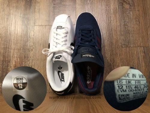 adidas-busenitz-sizing-vs-nike-cortez